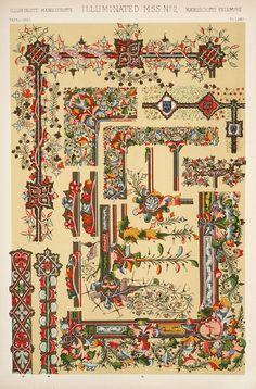 Jones, Owen / The grammar of ornament (1910). Medieval Ornament: Illuminated Manuscripts.