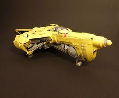 #LEGO #spaceship #yellow #legocraft