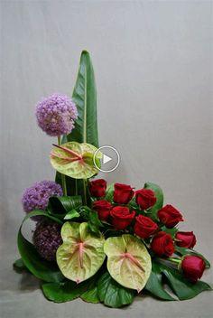 Tropical Floral Arrangements, Modern Flower Arrangements, Funeral Flower Arrangements, Artificial Flower Arrangements, Flower Arrangement Designs, Altar Flowers, Church Flowers, Funeral Flowers, Outdoor Flowers