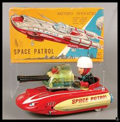 Horikawa Space Patrol. Battery operated toy from 60s. Ebay
