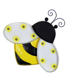 Loving this Solar Marquee Bumblebee Wall Décor on #zulily! #zulilyfinds