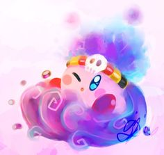 Poison Kirby from the new game: Kirby Planet Robobot.