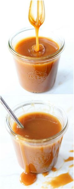 Salted Caramel Sauce Recipe on twopeasandtheirpod.com The BEST salted caramel sauce! It's easy to make too!