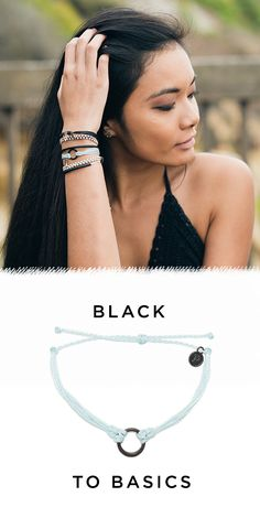 The new Black To Basics collection has arrived at Pura Vida! Style your wrist this season with beautiful hand-made bracelets from Costa Rica! Every bracelet purchased helps to provide full-time jobs to local artisans. Use code 'PV20' for 20% off all orders plus free shipping within the U.S. Join the Pura Vida movement!