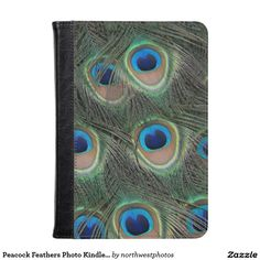 Peacock Feathers Photo Kindle Case