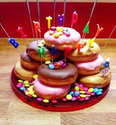 Iced Donut Cake With Mms Nom And So Easy