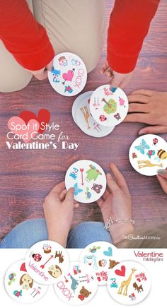 If you love the Spot It card game, then you'll love this Valentine's Day matching game, too! {OneCreativeMommy.com} Free Printables