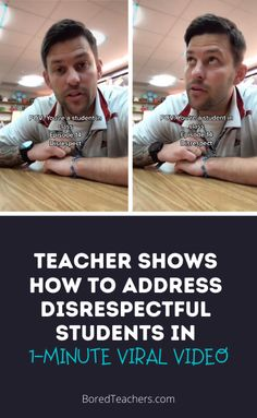 Teacher Shows How to Address Disrespectful Students in 1-Minute Viral Video Classroom Behavior, Music Classroom, Classroom Management, Classroom Discipline, Teacher Memes, Teacher Stuff, Bored Teachers, Secondary Teacher, Middle School Classroom