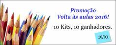 Fábrica dos Convites: #Promoção Volta às Aulas serão 10 kits para 10 ganhadores! Participe!!!