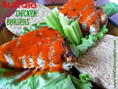 Craving buffalo chicken wings but not the saturated fat & grease? Try out this delicious Healthy Buffalo Chicken Burger Recipe that is guaranteed to satisfy your craving without increasing your waistline. Via www.WHOLEisticallyFit.com