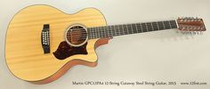 Martin GPC12PA4 12-String Cutaway Steel String Guitar, 2015 Full Front View