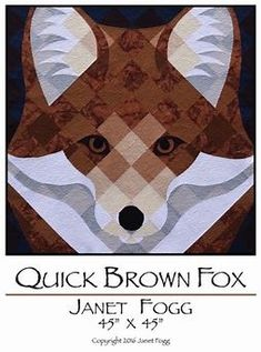 Image result for Fox Paper Piecing Quilt Pattern