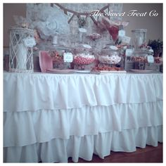 The Sweet Treat Co Candy Bar at Luttrellstown Castle, Ireland. Vintage Candy Buffet, Candy Bars, Confectionery, Wedding Events, Ireland, Sweet Treats, Castle, Table Decorations, Desserts