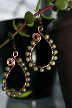 wire wrapped jewelry handmade silver wire earrings by shahrinalam