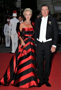 Monaco Royal Wedding Reception Prince Carlo of Bourbon-Two Sicilies and his wife.2011