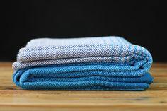 MADALO - Cascada Azul - babywearing - handwoven - herringbone twill - handwoven wrap - itsmadalo