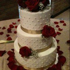 Buttercream wedding cake By Jennifer Borchert's Cakes Jenniferncbt@yahoo.com