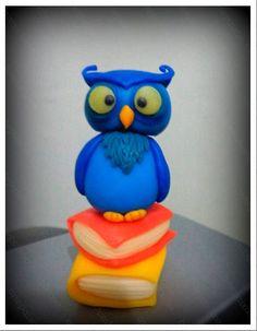 Coruja #biscuit # porcelana fria