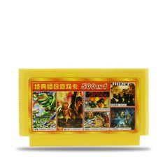 Купить товар500 в 1 8 бит РЭШ видеоигры машина желтую карточку для Игровой Контроллер D99/D30 D31 Contra в категории Мемери картына AliExpress.  описание:1. это классическая 8 бит карточная игра, отлично работает, для сбора игроков2. картридж оболочки цвет может б