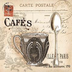 RB5278TS  Paris Café Cartões  12x12