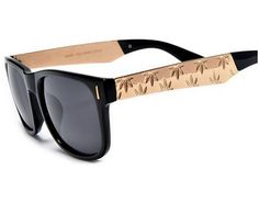 Weed Clothing Accessory - 420 Weed Sunglasses - $10 !  http://getazongbong.com/weed-clothing-420-weed-sunglasses/