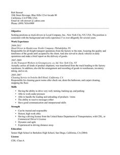 Resume For Truck Driver How To Make It Resume  Vision Specialist  Gamberger Casino