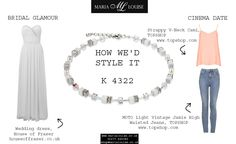 Arriving as part of #coeurdelion's AW13 is #necklace K 4322. Here's how we'd style it: #bridaljewellery #dateoutfit #outfitideas #houseoffraser #topshop #weddingdress #wedding #skinnyjeans #camisole #swarovski