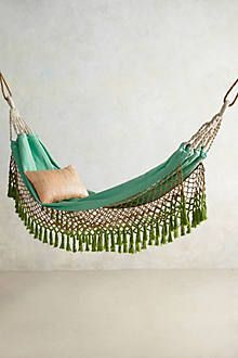 Anthropologie Hammock - Guests can take time to gaze at the moon in this beautiful hammock and after our events on our patio....as the Host/Hostess ~ we are going to need to put our feet up and relax & I couldn't think of a better place!!!!! #Anthropologie #PintoWin