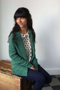 Tricot Tuto : Rosemont Cardigan from Knitbot / Il va falloir apprendre à tricoter en suivant des explications en anglais !