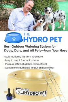 This hose hook up kit of The Hydro Pet is used for all outdoor hose faucets around your home or other buildings. The Hydro Pet bowl comes with an adaptor for a house bib faucet and also 5 feet of 1/4 inch drip line to connect from the adaptor to The Hydro Pet. There are also accessories available for purchase, including a quality hose outlet auto timer, to put The Hydro Pet watering bowl onto an automatic timer for your hose outlet—thus your watering station is automatic.