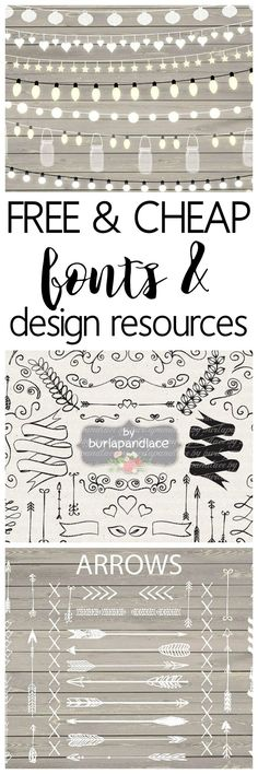 Free and Cheap Fonts and Design Resources - One of the best sites to snag design resources and free fonts. Great for designers who sell their products - commercial use licenses included with many downloads. Sponsored by http://designbundles.net