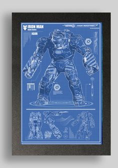 Iron Man Igor Blueprints  printed on premium quality card stock using premium quality pigment based inks.    other blueprints available  Mark 1