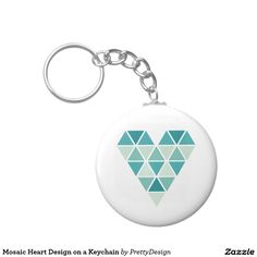 Mosaic Heart Design on a Keychain