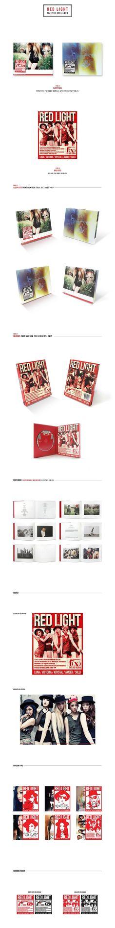 "f(x) The 3rd Album ""RED LIGHT"" | Music Album Packaging"