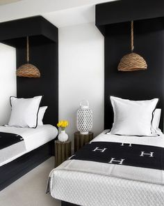 Kicking off our room redo vote with this fun bedroom from @lonny with two twins. Sophisticated way to style twins am I right? Also always love me some Hermes ;) Sooo time to vote! Like this pic if youd like it to be our next room redo! #CopyCatChic