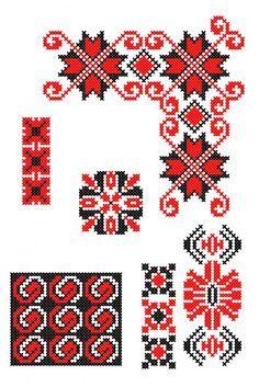 VB086 Blackwork Embroidery, Folk Embroidery, Cross Stitch Embroidery, Embroidery Patterns, Cross Stitch Borders, Cross Stitch Designs, Cross Stitching, Cross Stitch Patterns, Red Pattern
