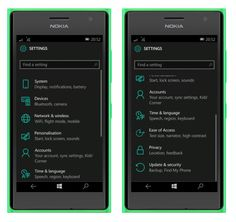Windows 10 Mobile: Settings