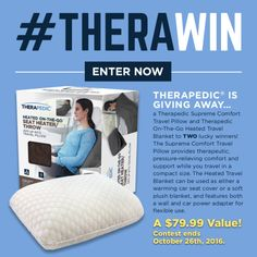 Therapedic On-The-Go Heated Travel Blanket & Supreme Comfort... sweepstakes IFTTT reddit giveaways freebies contests