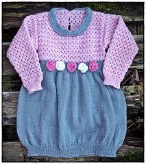 Crochet knit dress