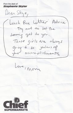 MomS Lunchbox Letters To Her Daughter Should Be Read By Every