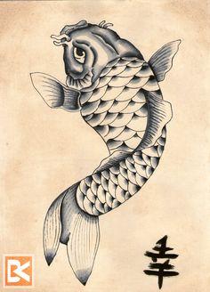 Koifish Tattooflash-design