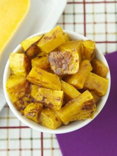 Roast Butternut Squash in a cinnamon flavored sauce and serve as a Thanksgiving side Side Dish Recipes, Lunch Recipes, Fall Recipes, Vegetarian Recipes, Healthy Recipes, Side Dishes, Chopped Liver, Yummy Veggie, Roasted Butternut Squash