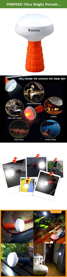 VSSPEED Ultra Bright Portable LED Lamp, Unique Mushroom shaped Flashlight, USB Rechargeable Kids Flashlight, Camping Lantern, Rescue Lantern, Nice Light for Reading, Camping, Emergencies (Orange). Light Source:38pcs SMD LED beads Material:ABS+high quality rubber colors:Orange,blue,gray,brown Max wattage:5W lifetime:35.000HRS brightness:luminous flux.200LM Lamp illumination:>500lux 30cm Power supply:USB 5V/500mA dimensions:88*88*134mm Applicable to Emergency lighting. outdoor camping…