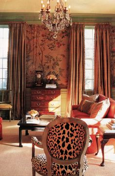 """""""Madeleine Castaing pretty much had it all figured out - leopard carpets look good anywhere"""" - Robert Kime Somehow, A-Gent of Style has a feeling not everyone will agree with Prince Charles' favour..."""