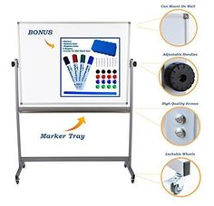 Double-sided-Flip-over-Large-Magnetic-Mobile-Whiteboard-on-Stand-Stain-Resistant