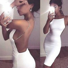 Cynthia Chain Strapped White Dress for just $38.99. So in love with this chic dress, featuring a chain strap design. Apply code DREAM10 for an additional 10% off + Free Shipping #love #shop #Chic