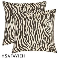 @Overstock.com - With a fresh, contemporary, eye-catching pattern, these decorative pillows are a lovely addition to any decor. These throw pillows feature a zebra print design with a handwoven cotton cover.http://www.overstock.com/Home-Garden/Zebra-18-inch-Black-White-Decorative-Pillows-Set-of-2/5902971/product.html?CID=214117 $40.99
