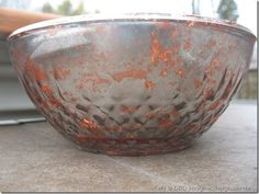 Experimental DIY copper mercury glass