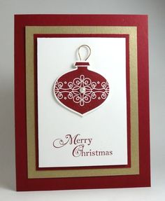 Lots of possibilities with this card - bell, ornament, star - Hmm could even use different colours