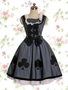 Dark Gray Cotton Gothic Lolita Dress